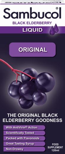 Sambucol Original, tekoči izvleček črnega bezga, 120 ml