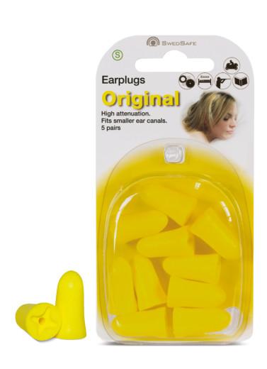 Swedsafe Orginal - S, ušesni čepek, 5 parov