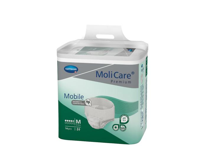 Molicare Premium Mobile 5D - M, 14 inkontinenčnih hlačk