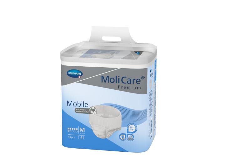 Molicare Premium Mobile 6D - M, 14 inkontinenčnih hlačk