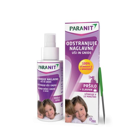 Paranit, pršilo za odstranjevanje naglavnih uši in gnid, 100 ml
