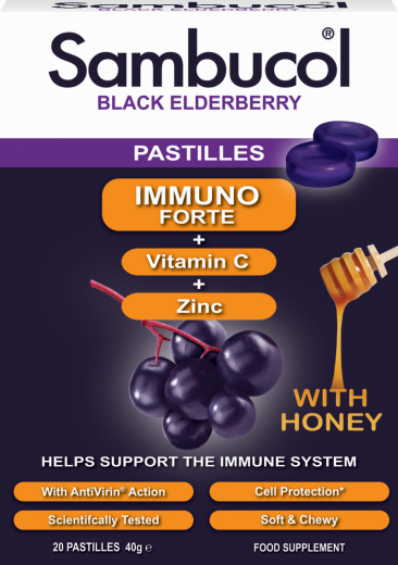 Sambucol Immuno Forte, 20 pastil