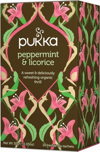 Pukka Peppermint & Licorice, ekološki čaj, 20 vrečk