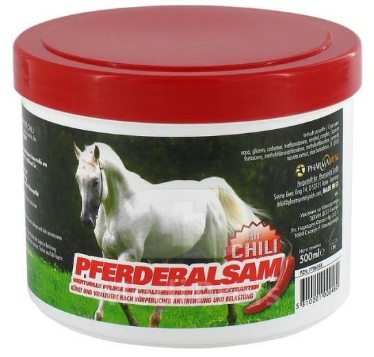 PharmaVital, konjski balzam s čilijem, 500 ml