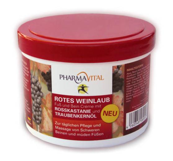 PharmaVital, Krema rdeče vinske trte za stopala in noge, 500 ml