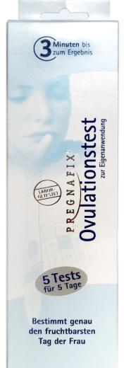 Pregnafix, test za ugotavljanje ovulacije, 5 testov