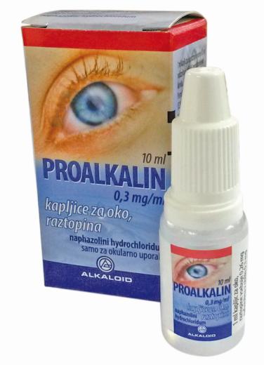 Proalkalin 0,3 mg/ml kapljice za oko, raztopina, 10 ml