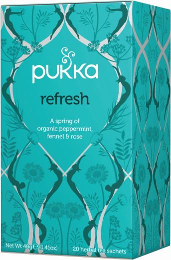 Pukka Refresh, ekološki čaj, 20 vrečk