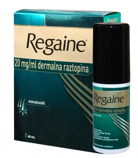 Regaine 20 mg/ml, dermalna raztopina, 60 ml
