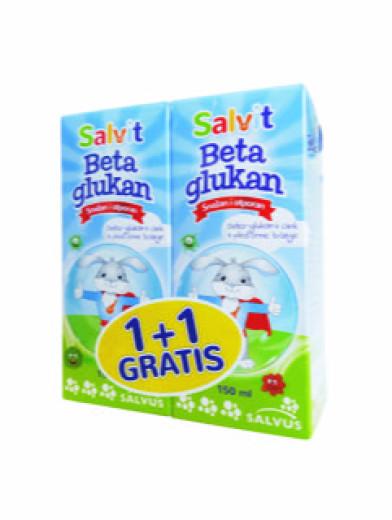 Salvit Beta Glukan, tekočina, 150 ml, 1+1