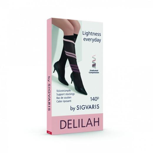 Sigvaris Delilah dokolenke 140 DEN  – črna, št.3, 1 par