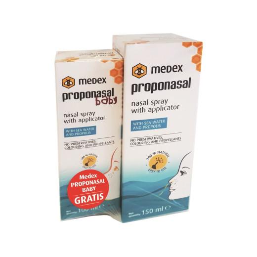 Medex Proponasal pršilo, 150 ml + GRATIS Proponasal Baby pršilo, 100 ml