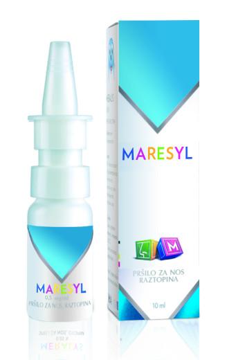 Maresyl 0,5 mg/ml, pršilo za nos, raztopina, 10 ml
