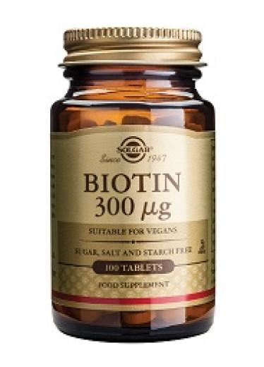 Solgar Biotin 300 µg, 100 tablet