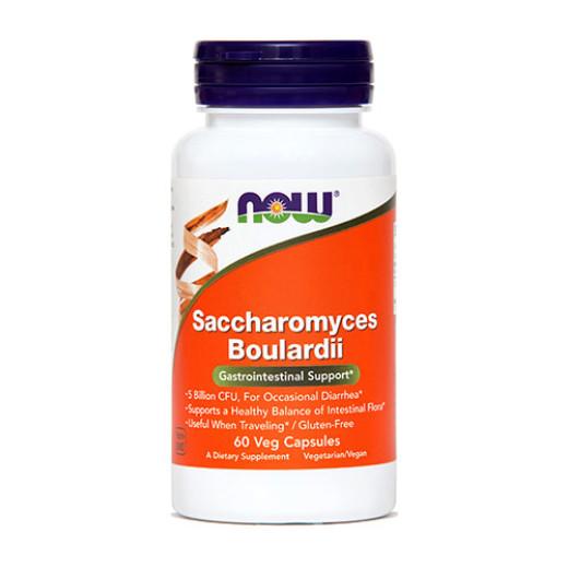 NOW Saccharomyces boulardii, 60 kapsul