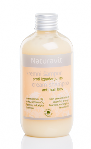 Naturavit, kremni šampon proti izpadanju las, 250 ml