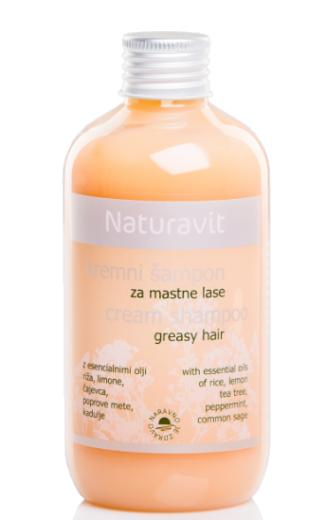 Naturavit, kremni šampon za mastne lase, 250 ml