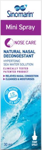 Sinomarin Mini 2,3% hipertonični nosni dekongestiv, odmerno pršilo 30 ml