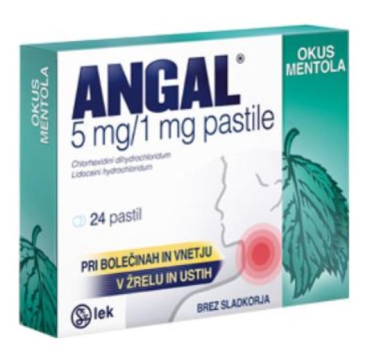Angal 5 mg/1 mg, 24 pastil