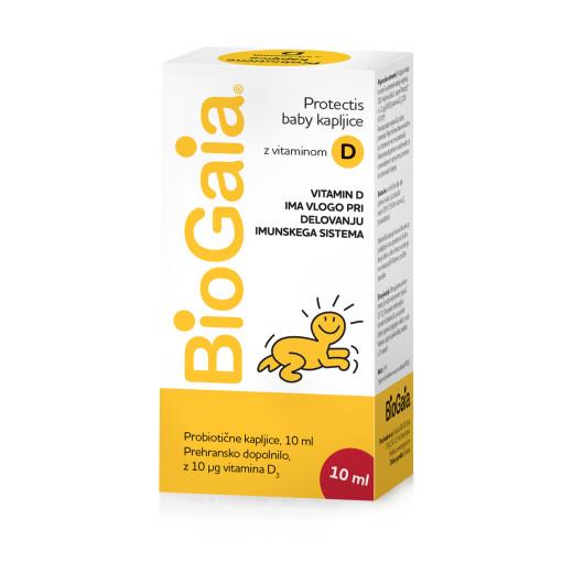 BioGaia ProTectis kapljice z vitaminom D3, 10 ml