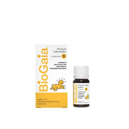 BioGaia ProTectis kapljice z vitaminom D3, 5 ml