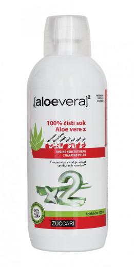 Aloe Vera X2, 100% čisti sok Aloe vere z dodatki, 1000 ml
