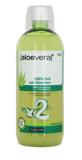 Aloe Vera X2, 100% čisti sok Aloe vere, 1000 ml