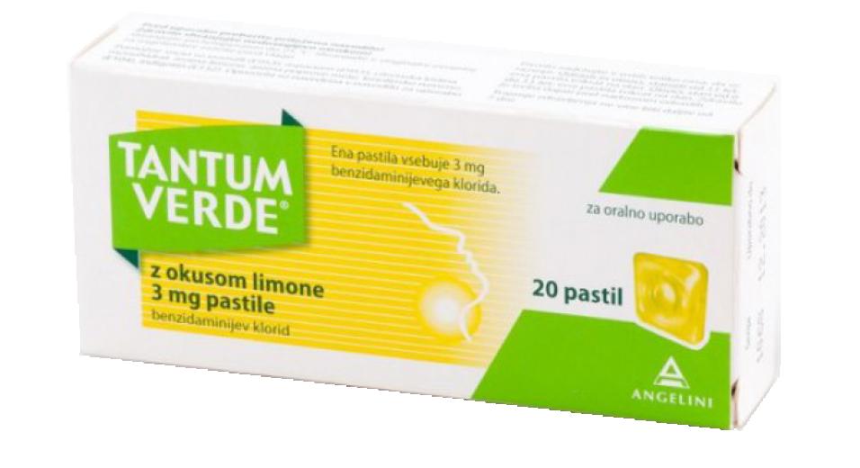Tantum Verde 3 mg, pastile z okusom limone, 20 pastil