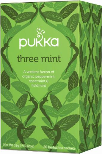 Pukka Three Mint, ekološki čaj, 20 vrečk