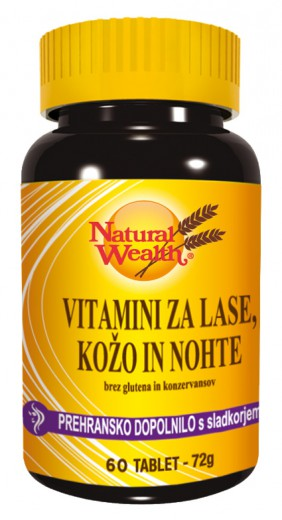 Natural Wealth Vitamini za lase, kožo in nohte, 60 tablet