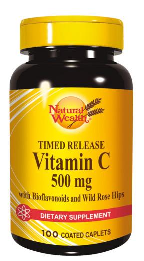 Natural Wealth Vitamin C 500 mg, 100 tablet