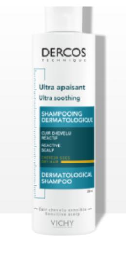 Vichy Dercos, pomirjujoč šampon za suhe lase, 200 ml