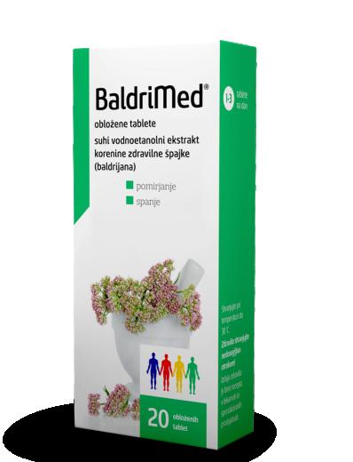 BaldriMed, 20 obloženih tablet