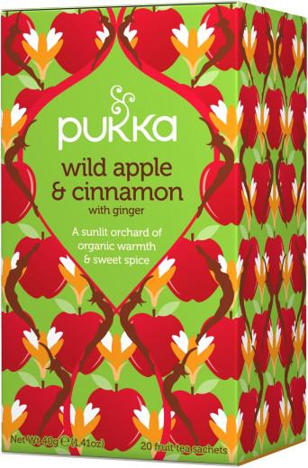 Pukka Wild Apple & Cinnamon, ekološki čaj, 20 vrečk