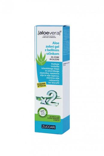 Aloe Vera X2, Aloe zobni gel z belilnim učinkom, 100 ml