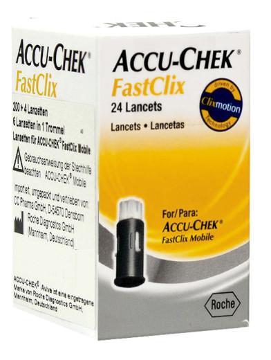 Accu-chek FastClix, 24 lancet