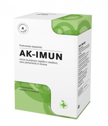 AK-Imun, zrnca za pripravo napitka s sladilom, okus pomaranče in limone, 4 vrečke