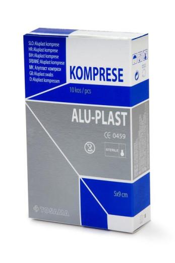 Aluplast extra komprese sterilne 5 x 9 cm, 10 kosov