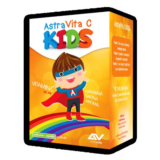 AstraVita C kids, 90 žvečljivih table