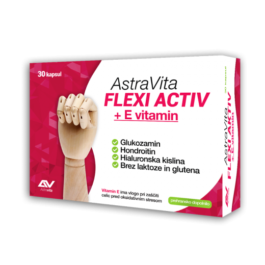AstraVita Flexi Activ + E vitamin, 30 kapsul