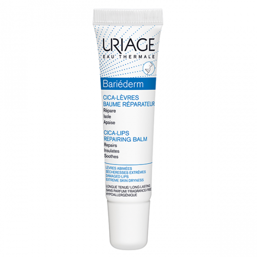 Uriage Bariederm Cica balzam za ustnice, 15 ml