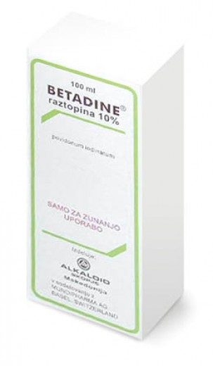 Betadine 100 mg/ml, dermalna raztopina, 100 ml