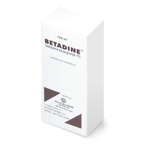 Betadine 10 mg/ml, raztopina za grgranje, 100 ml