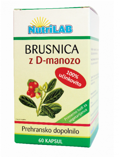 Nutrilab Brusnica z D-manozo, 60 kapsul