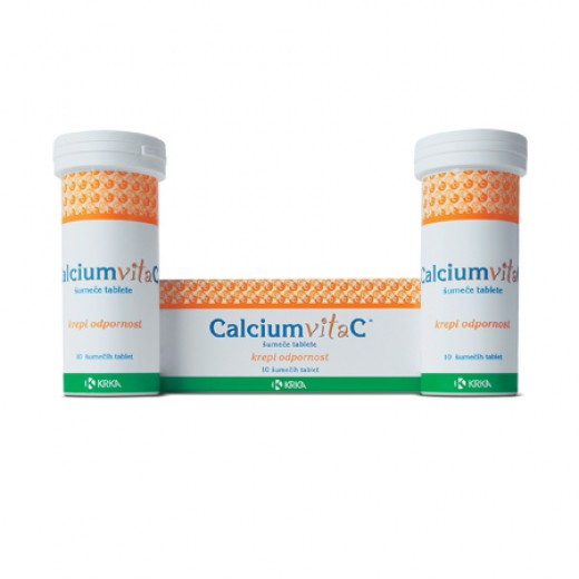CalciumvitaC 260 mg/500 mg, 10 šumečih tablet