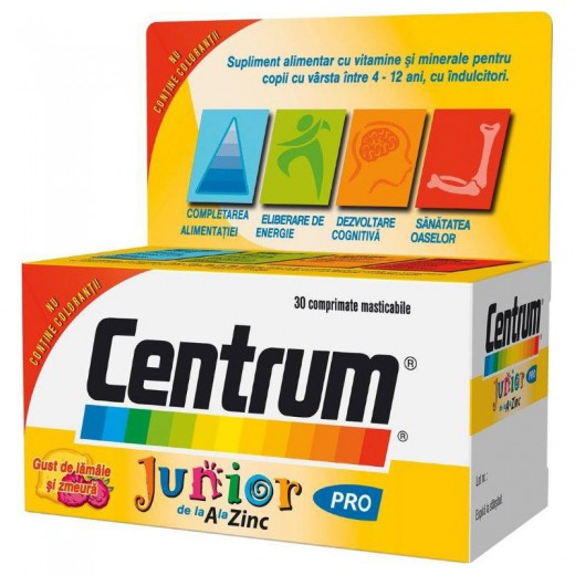 Centrum Junior A-Z, 30 žvečljivih tablet