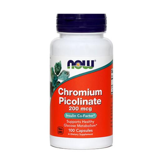 NOW Kromov pikolinat 200 µg, 100 kapsul