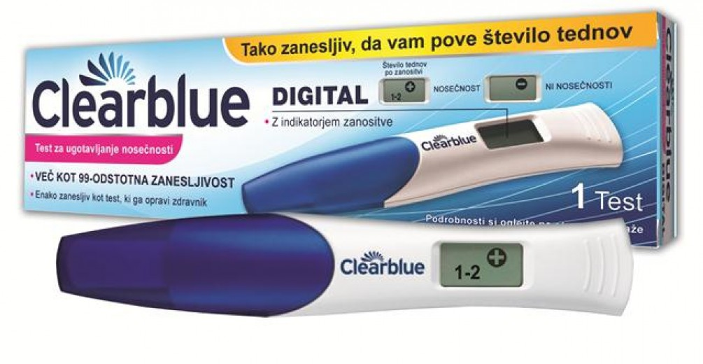 Clearblue, digitalni test nosečnosti