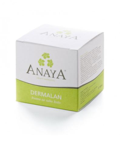 Anaya Dermalan, krema za suho kožo - lonček, 50 ml