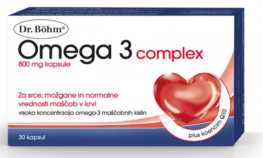 Dr. Böhm, Omega 3 complex, 30 kapsul